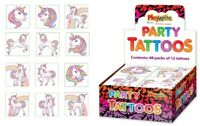 72 Unicorn Tattoos (6 Packs Of 12) - Pinata Toy Loot/Party Bag Fillers Kids