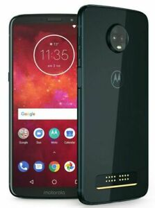 dqMotorola Moto Z3 Play XT1929-3 32GB Indigo Sprint C stock  Unlocked