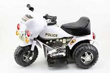 Ride-On Vintage Police Motorcycle 3 Wheeler Battery Operated for Parts / Repair