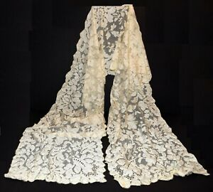 Mohair with acrylic Ivory Laces scarf Handknitted wrap Lace wedding shawl wedding Handknitted lace
