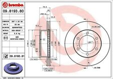 Disc Brake Rotor-Premium UV Coated OE Equivalent Rotor Front Brembo 09.8193.81