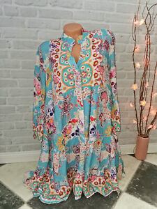 Tunika Kleid ❤Skull Longhorn Totenkopf 36 38 40 boho Ibiza Mode Italy Hängerchen