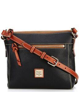 Dooney & Bourke Allison Top Zip Pebbled Leather Crossbody Handbag Back