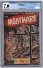 Nightmare #12 CGC 7.0 (St. John, 4/1954) Joe Kubert cvr; Edgar Allan Poe adapt.