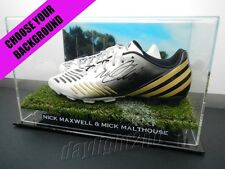 ✺Signed✺ NICK MAXWELL & MICK MALTHOUSE Boots PROOF COA Collingwood 2010 Guernsey