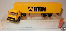 MICRO WIKING HO 1/87 CAMION MB MERCEDES-BENZ 1626 SEMI REMORQUE IMK IN BOX
