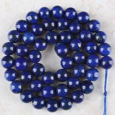 8mm Blue Egyptian Lapis Lazuli Gemstones Round Loose Beads 15'' Strand AAA