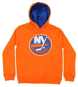 Reebok NHL Hockey Boys Youth New York Islanders Prime Basic Hoodie, Orange