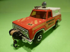 MATCHBOX K-65 K65 PLYMOUTH TRIAL DUSTER - EMERGENCY AMBULANCE - GOOD CONDITION