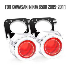 KT Halo Eye HID Projector Lens for Kawasaki Ninja 650R 2009 2011 Headlight Red