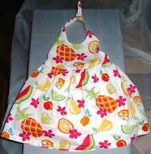 Gymboree White Sundress Patterned with Colorful Fruits and Flowers Size 3-6 Mos
