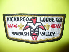 OA Kickapoo Lodge 128,S4a,1970s, T-Bird Flap,GMY SS,PB,21,222,308,512,Indiana,IN