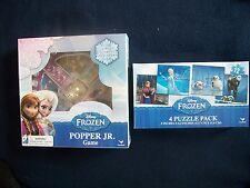 2 Game Set Disney Frozen 4 Puzzle Pack and Disney Frozen Popper Jr, BRAND NEW