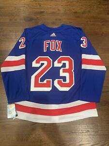 New York Rangers Adam Fox Authentic Adidas Adizero Home Jersey Size 56 NWT