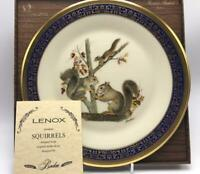 Squirrels Woodland Wildlife by Lenox Boehm 1979 Collectible Plate 7th Annual Box