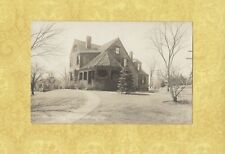 Ma Wellesley 1908-39 Rppc real photo postcard Clematis Cottage & Dana Hall Mass