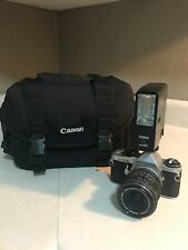 Pentax ME Super w/ 1:4.5  50mm lens and Canon Camera Bag