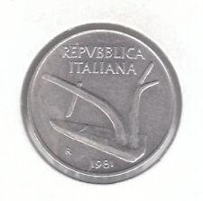 ITALIA 10 LIRE 1981 Moneta in alluminio-Aratro e grano Orecchie
