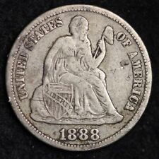 1888-S Seated Liberty Dime CHOICE VF FREE SHIPPING E269 XCM