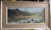 Charles Wyatt Warren 1908-1993 Signed Oil Painting Of Llyn Peris And Snowdon