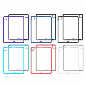 """For iPad 12.9"""" 2020 10.2"""" Mini 1/2/3/4 Clear Rubber Bumper Shockproof Case Cover"""