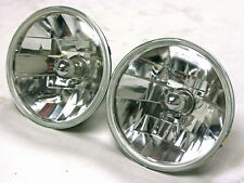 """7"""" Clear GLASS Headlights H4 Bright Lens Chevy Ford 55 56 57 Bullet Style"""