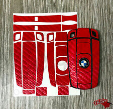 RED CARBON Fiber Key Ring Sticker Decal Overlay BMW 1 3 5 6 SeriesZ4 X1 3 X5 X6