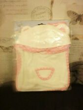 TATTY TEDDY DRESS UP OUTFIT WHITE PINK ALL IN ONE HOODIE FOR GIRL NEW WITH TAGS