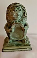"""""""SOLID BRONZE LION HOLDING SHIELD"""" @ 1930"""