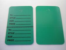 1000 Green Hang Price Label Tags Clothing Tagging Tags Gun Two parts