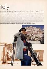 1965 The Italian State Tourist Board - Vintage Snow Ski PRINT AD