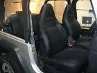 Jeep Wrangler Tj Sahara 1997-2002 Black Iggee S.leather Seat Cover
