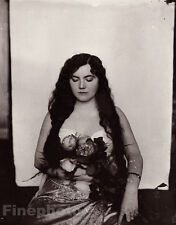 1912 Vintage New Orleans Female Prostitute Louisiana Photo Art By E.J. Bellocq