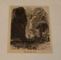 1879 magazine engraving ~ THE HANGING ROCK,  France