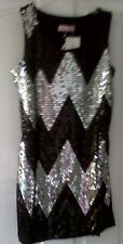 FREESPIRIT BLACK & SILVER SEQUINED GIRLS PARTY DRESS 11-12 YEARS