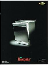 PUBLICITE ADVERTISING  2002   BAUMATIC  lave vaisselle