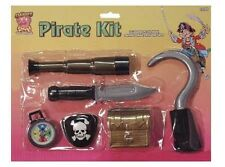 6 Piece Deluxe Child Pirate Costume Accessory Kit