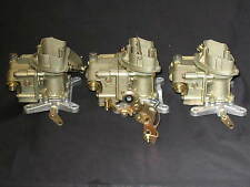 1967 427 4 Spd Corvette Tri Power Holley 3660 3659 Carburetors dated Jan/Feb