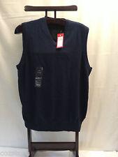 Izod Cotton Blue V Neck Knit Sweater Vest Mens Size L Tall LT