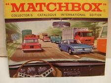 MATCHBOX LESNEY COLLECTOR'S CATALOGUE CATALOG 1969 INTERNATIONAL ENGLISH EDITION