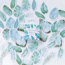 45 Watercolour Botanical Foliage Palm Journalling Scrapbook Mini Box Stickers