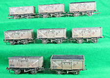 BACHMANN OO  8 x BR GREY 16T PRESSED STEEL MINERAL WAGONS weathered No boxes