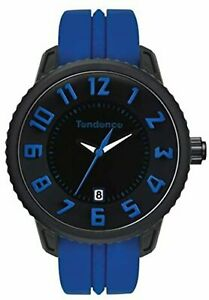 Tendence Gulliver Medium - Funky Unisex Quartz Watch with Black Dial Analogue Di