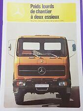 Catalogue / Brochure Mercedes Benz MB  Porteurs lourds chantier