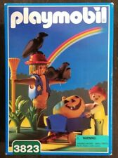 Vintage 1996 playmobil 3828 Scarecrow Halloween Pumpkin Boy Wagon Set NIB