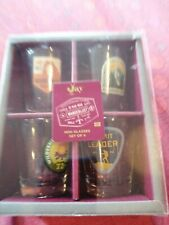 NEW Retro styled Jay printed glass shot glasses x 4 hiking Rambler present BNIB