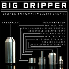 The Big Dripper Rdta Rda Rta Authentic Made In Usa + Drip Tip