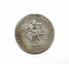 Antique 1819 Crown Coin George III Sterling Silver