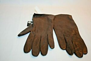 NEW (Aris Too) Brown Genuine Leather  Women's Gloves Size 7 1/2