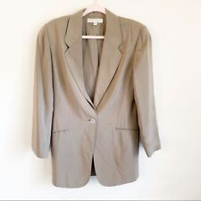 Express Silk Tan Taupe One Button Blazer XS